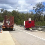 North Dandalup Dam - anchored by Truck
