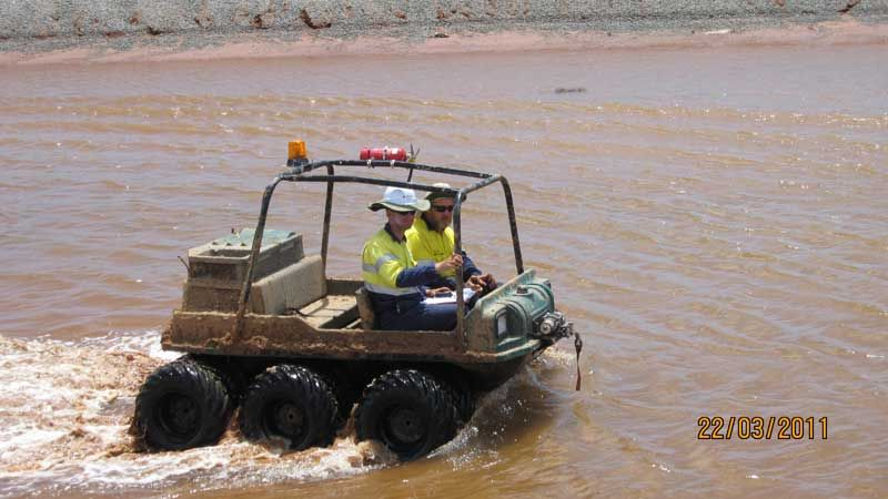 13 Tonne Marsh Buggy Rig Probedrill Geotechnical